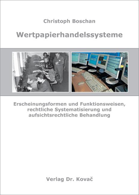 Cover: Wertpapierhandelssysteme
