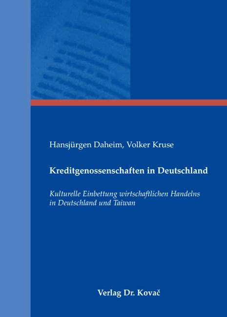 Cover: Kreditgenossenschaften in Deutschland