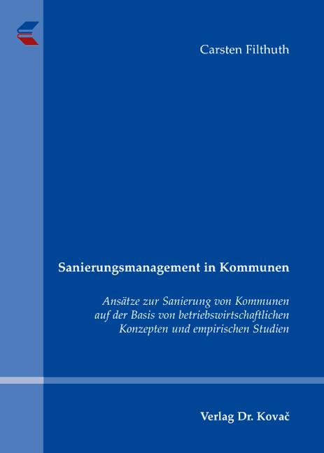 Cover: Sanierungsmanagement in Kommunen