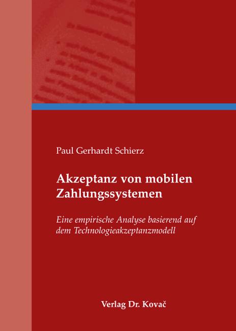 Cover: Akzeptanz von mobilen Zahlungssystemen
