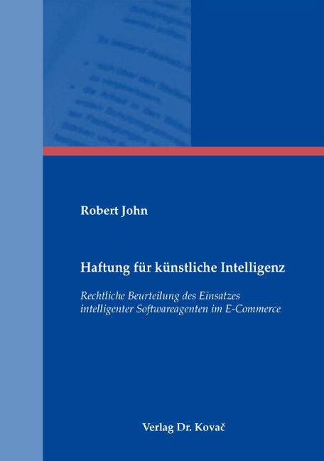 Cover: Haftung für künstliche Intelligenz
