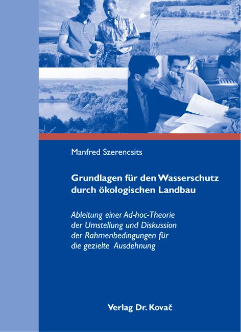 Cover: Grundlagen für den Wasserschutz durch Ökologischen Landbau
