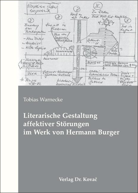 Cover: Literarische Gestaltung affektiver Störungen im Werk von Hermann Burger