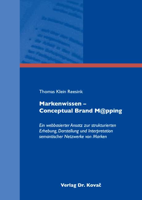 Cover: Markenwissen – Conceptual Brand M@pping