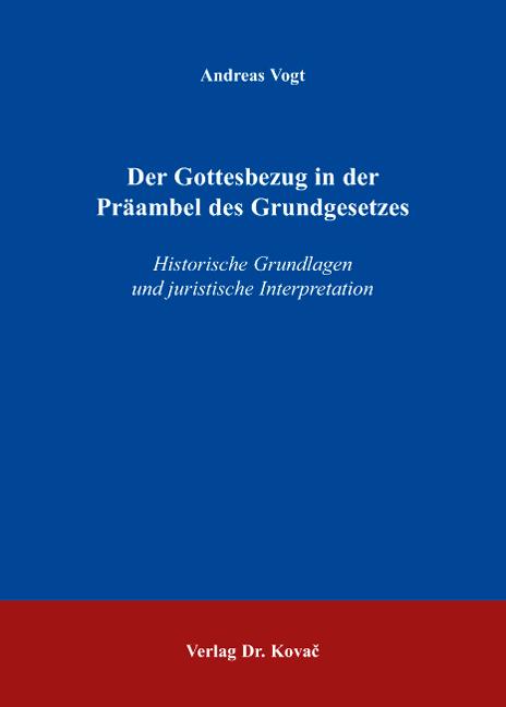 Cover: Der Gottesbezug in der Präambel des Grundgesetzes