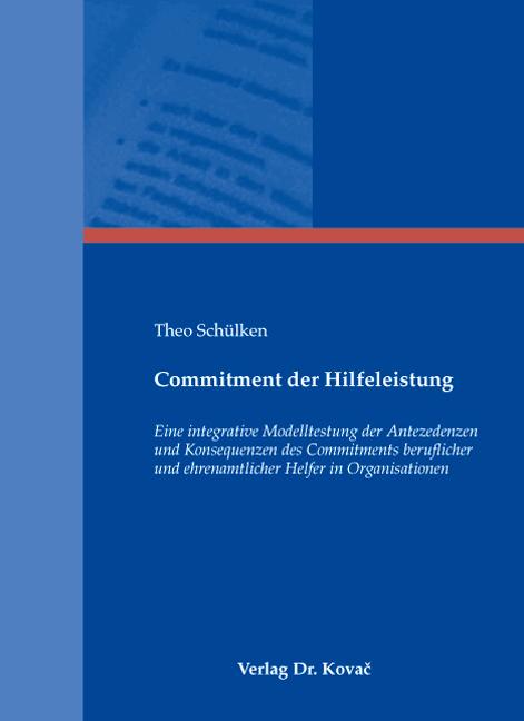 Cover: Commitment der Hilfeleistung