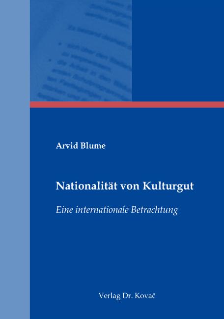 Cover: Nationalität von Kulturgut