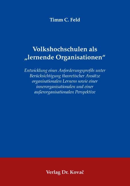 """Cover: Volkshochschulen als """"lernende Organisationen"""""""