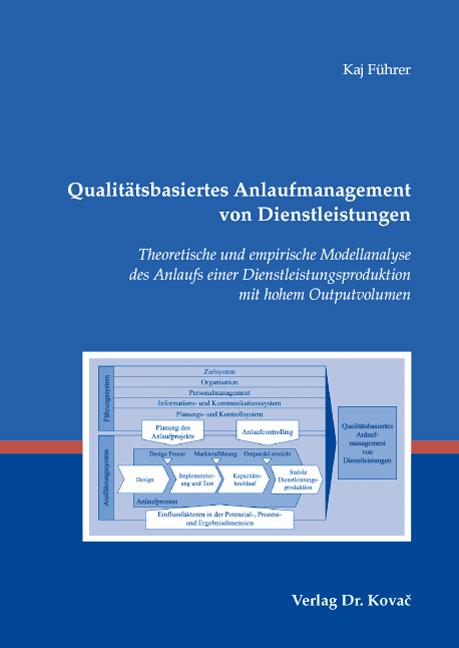 Cover: Qualitätsbasiertes Anlaufmanagement von Dienstleistungen