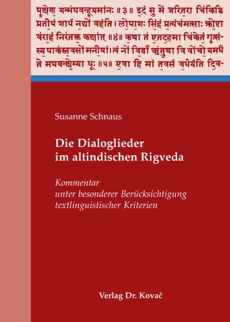 Cover: Die Dialoglieder im altindischen Rigveda