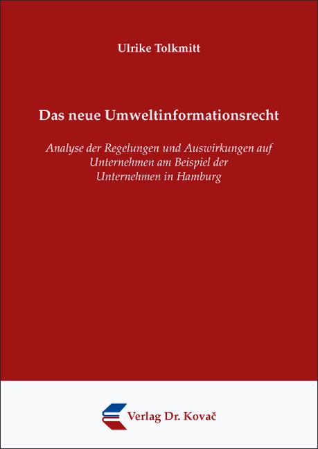 Cover: Das neue Umweltinformationsrecht