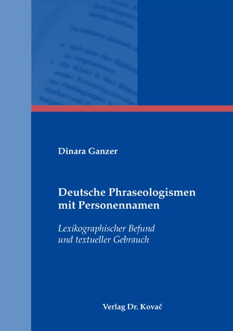 Cover: Deutsche Phraseologismen mit Personennamen