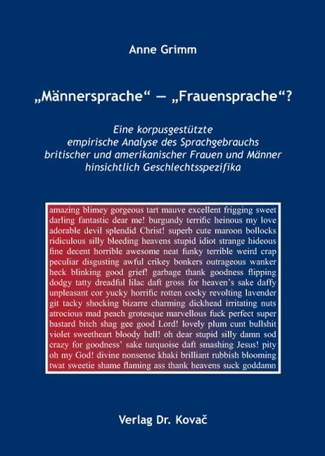 """Cover: """"Männersprache"""" – """"Frauensprache""""?"""