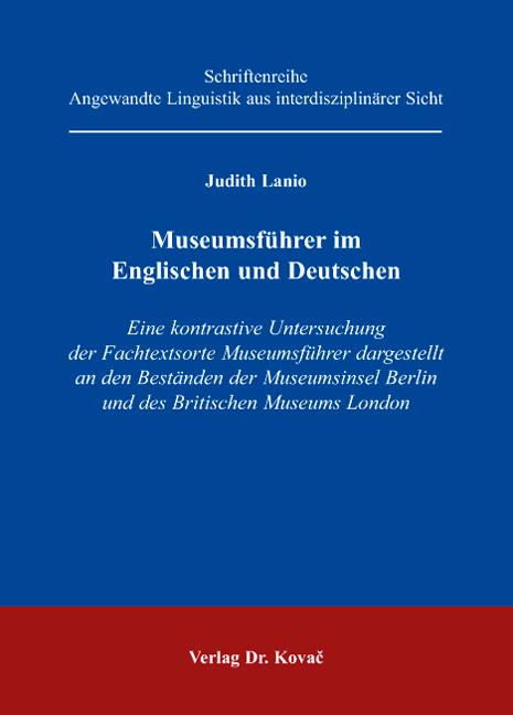 Cover: Museumsführer im Englischen und Deutschen