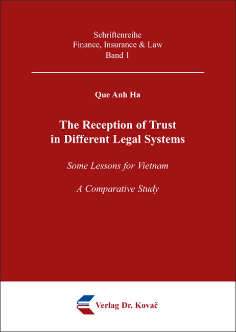Cover: The Reception of Trust in Different Legal Systems