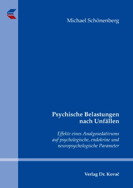 Cover: Psychische Belastungen nach Unfällen
