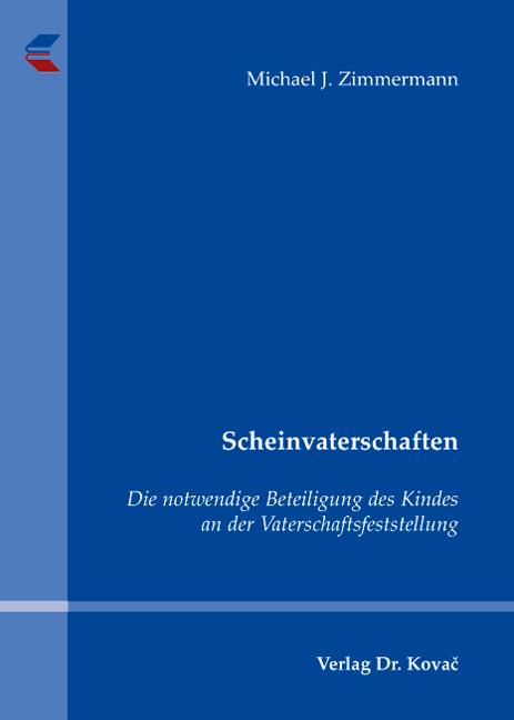 Cover: Scheinvaterschaften