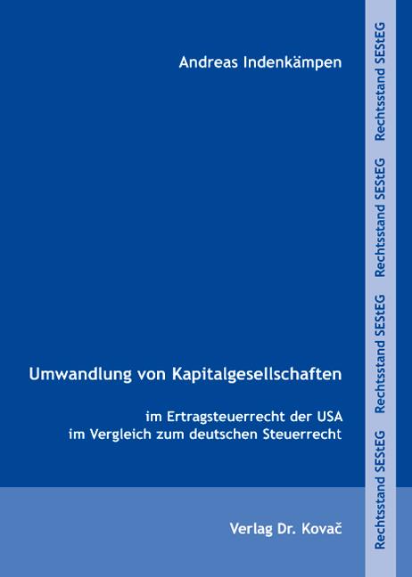 Cover: Umwandlung von Kapitalgesellschaften