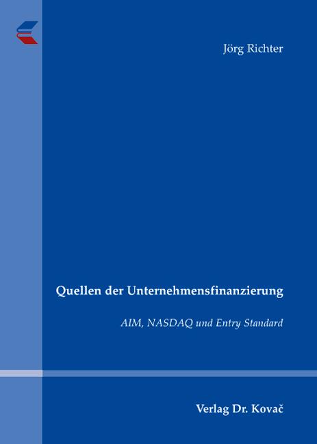 Cover: Quellen der Unternehmensfinanzierung