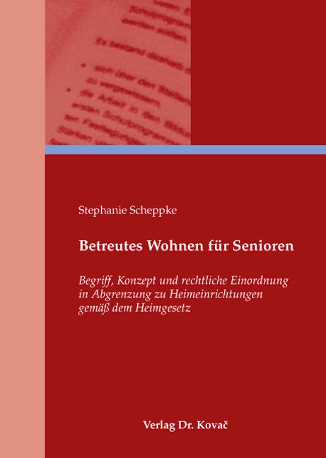 Cover: Betreutes Wohnen für Senioren