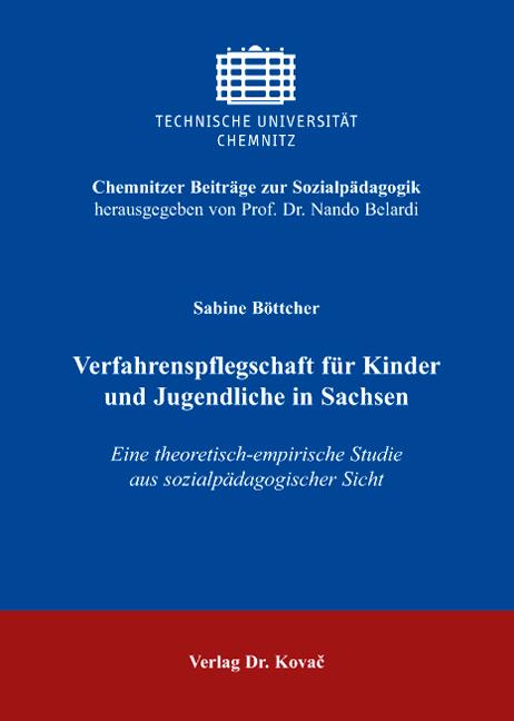 Cover: Verfahrenspflegschaft für Kinder und Jugendliche in Sachsen
