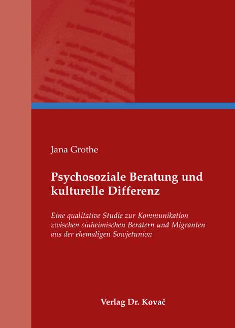 Cover: Psychosoziale Beratung und kulturelle Differenz