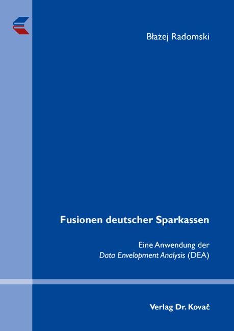 Cover: Fusionen deutscher Sparkassen