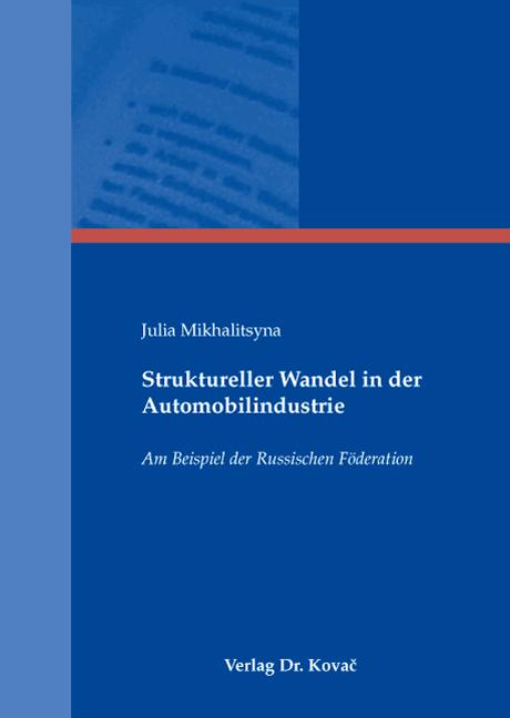 Cover: Struktureller Wandel in der Automobilindustrie
