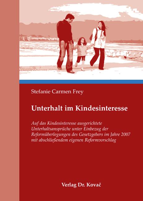 Cover: Unterhalt im Kindesinteresse
