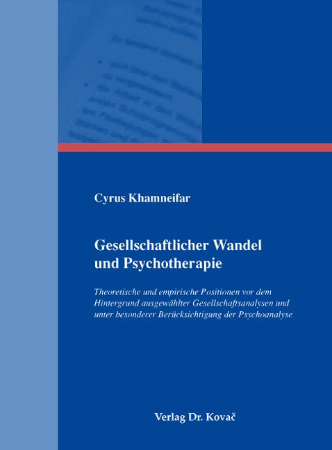 Cover: Gesellschaftlicher Wandel und Psychotherapie