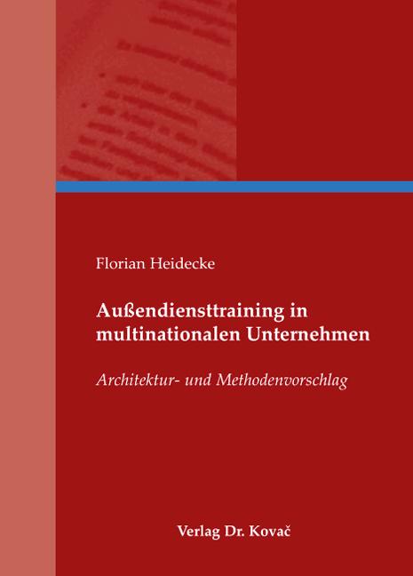 Cover: Außendiensttraining in multinationalen Unternehmen