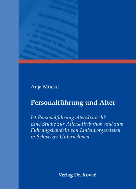 Cover: Personalführung und Alter