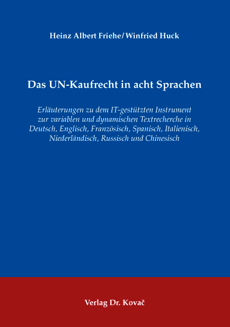 Cover: Das UN-Kaufrecht in acht Sprachen