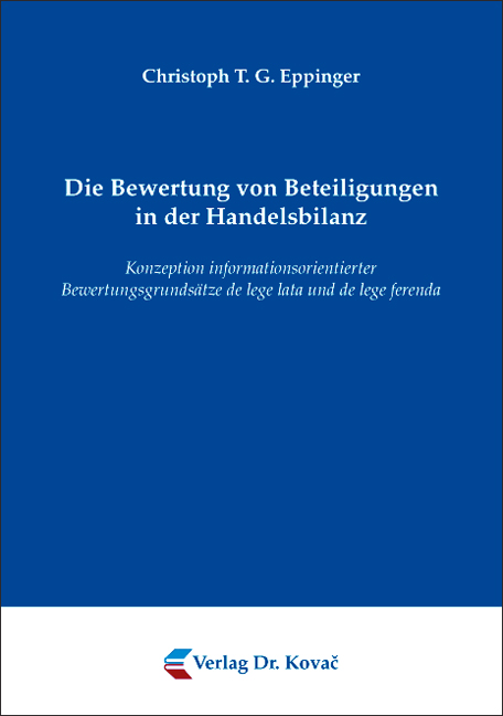 Cover: Die Bewertung von Beteiligungen in der Handelsbilanz