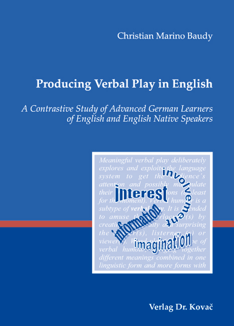 Cover: Producing Verbal Play in English