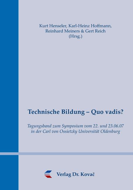 Cover: Technische Bildung – Quo vadis?