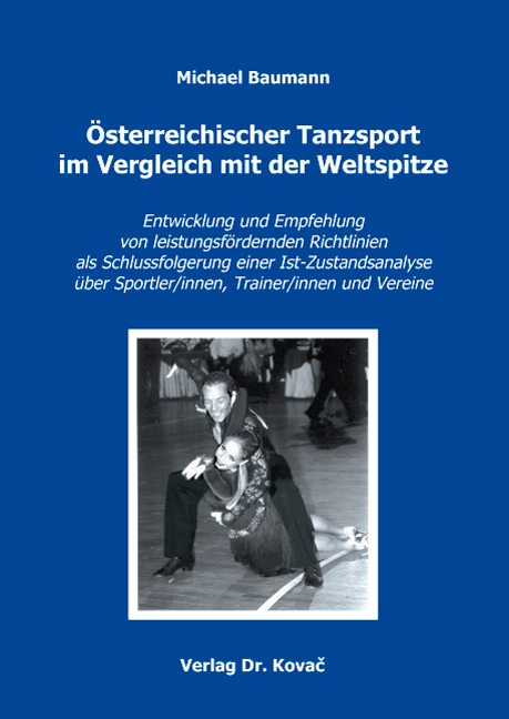 Cover: Österreichischer Tanzsport im Vergleich mit der Weltspitze