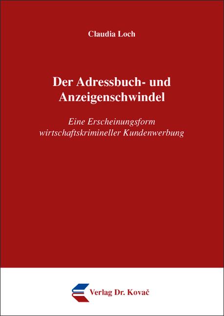 Cover: Der Adressbuch- und Anzeigenschwindel