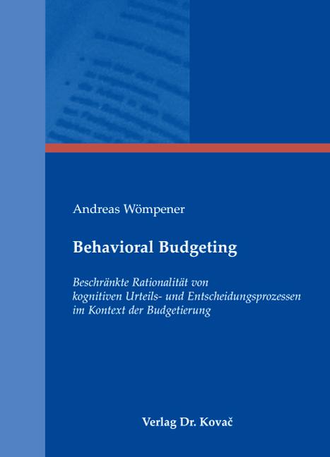 Cover: Behavioral Budgeting
