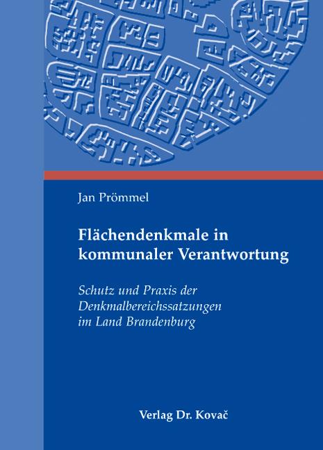 Cover: Flächendenkmale in kommunaler Verantwortung