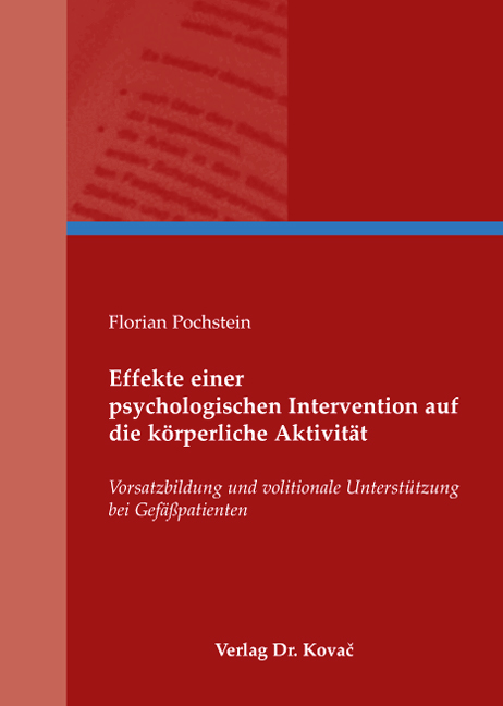 Cover: Effekte einer psychologischen Intervention auf die körperliche Aktivität