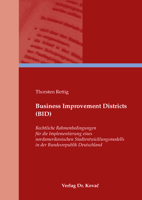 Cover: Business Improvement Districts (BID)