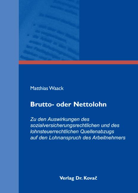 Cover: Brutto- oder Nettolohn