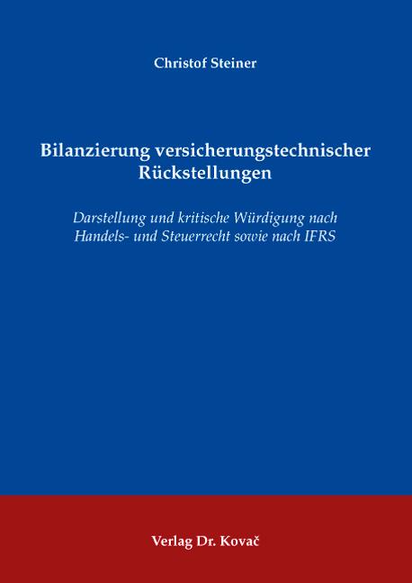Cover: Bilanzierung versicherungstechnischer Rückstellungen