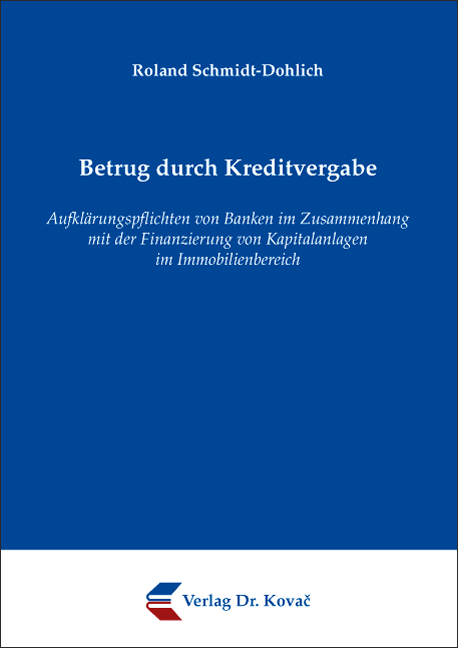 Cover: Betrug durch Kreditvergabe
