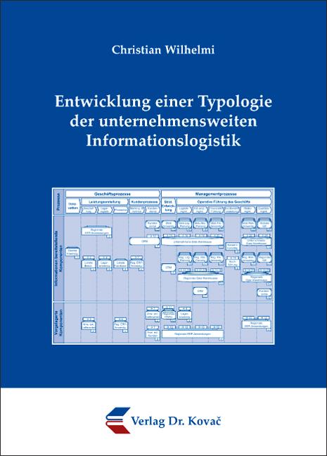 Cover: Entwicklung einer Typologie der unternehmensweiten Informationslogistik