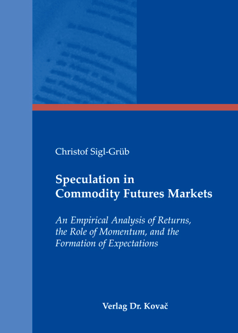 Cover: Speculation in Commodity Futures Markets