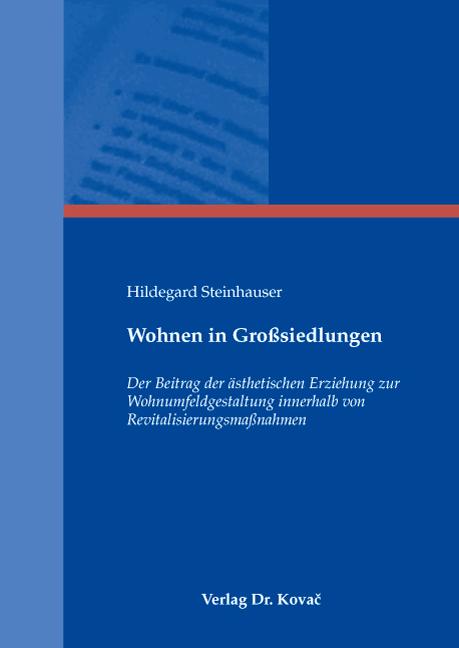 Cover: Wohnen in Großsiedlungen