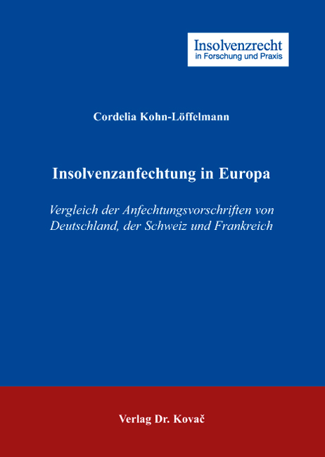Cover: Insolvenzanfechtung in Europa