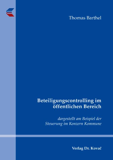 Cover: Beteiligungscontrolling im öffentlichen Bereich